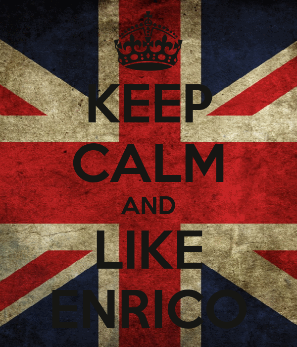 KEEP CALM AND LIKE ENRICO