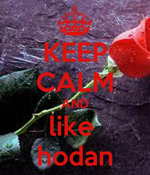 KEEP CALM AND like  hodan