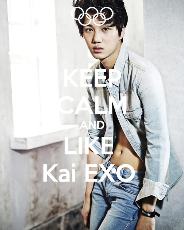 KEEP CALM AND LIKE  Kai EXO