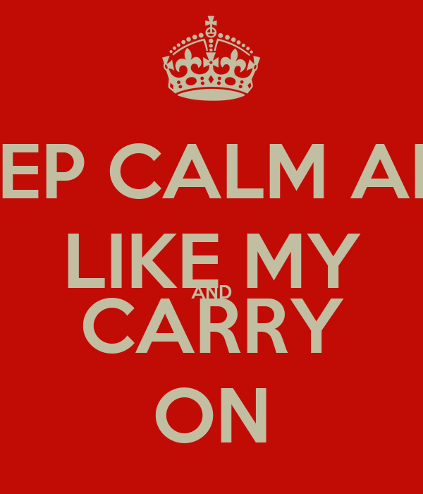 KEEP CALM AND LIKE MY AND CARRY ON