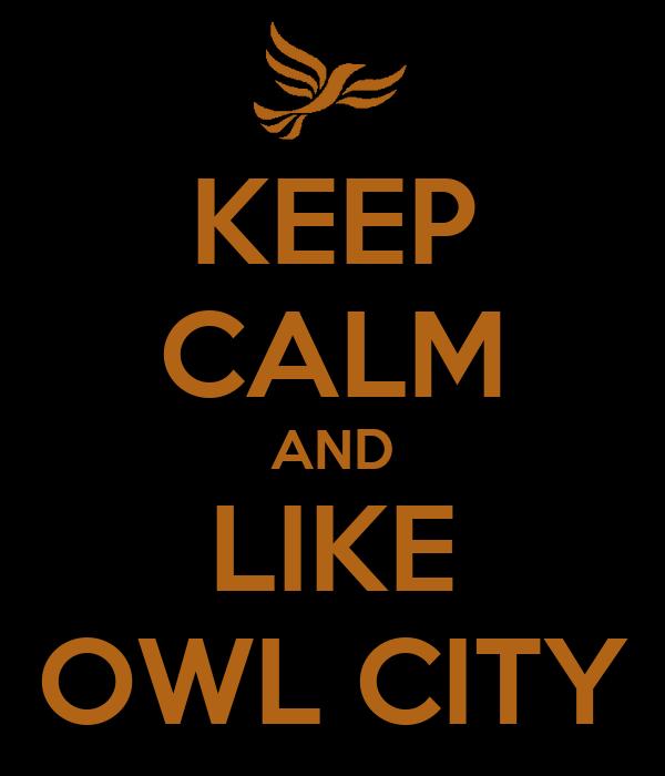 KEEP CALM AND LIKE OWL CITY