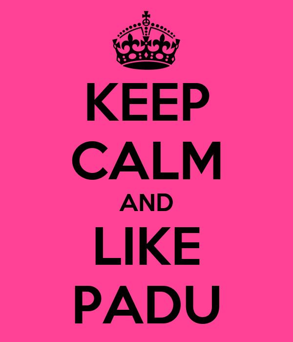 KEEP CALM AND LIKE PADU