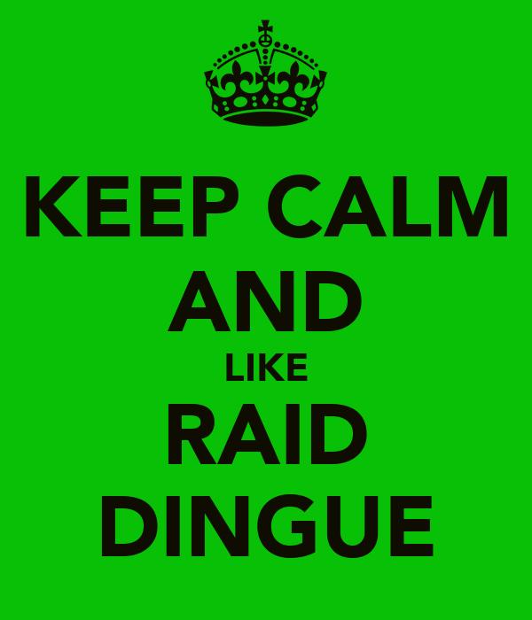 KEEP CALM AND LIKE RAID DINGUE