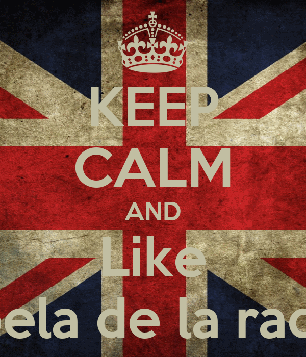 KEEP CALM AND Like Rebela de la radio:*