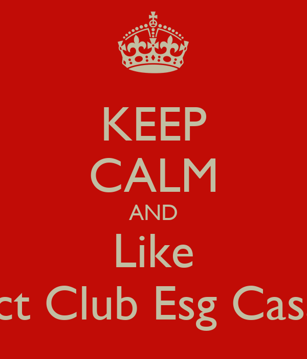 KEEP CALM AND Like Rotaract Club Esg Casablanca