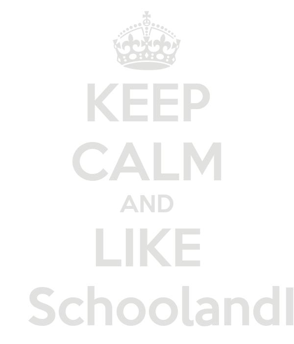 KEEP CALM AND LIKE     SchoolandIT