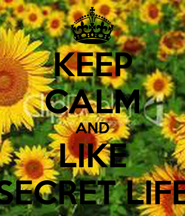 KEEP CALM AND LIKE SECRET LIFE