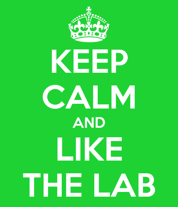 KEEP CALM AND LIKE THE LAB
