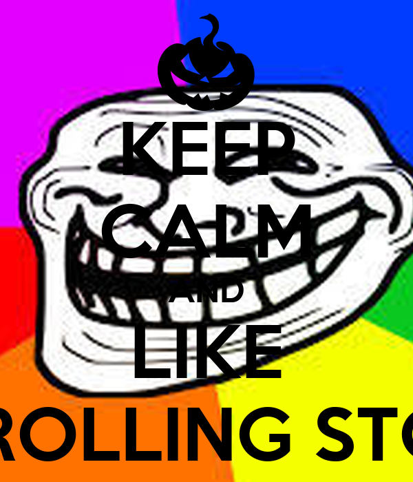KEEP CALM AND LIKE THE ROLLING STONES