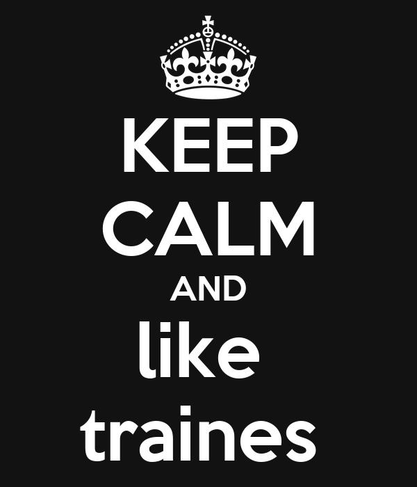KEEP CALM AND like  traines