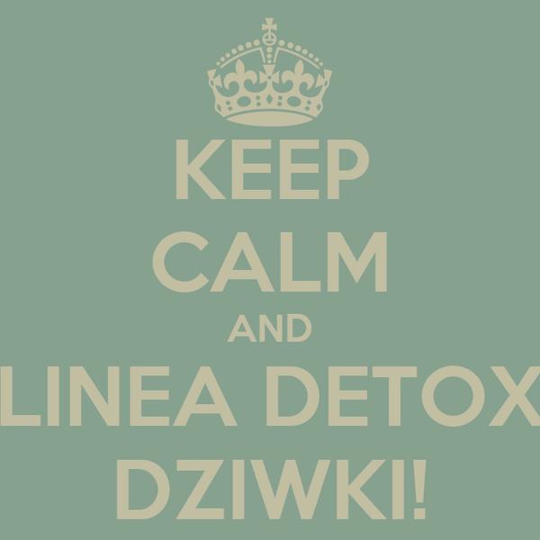 KEEP CALM AND LINEA DETOX DZIWKI!