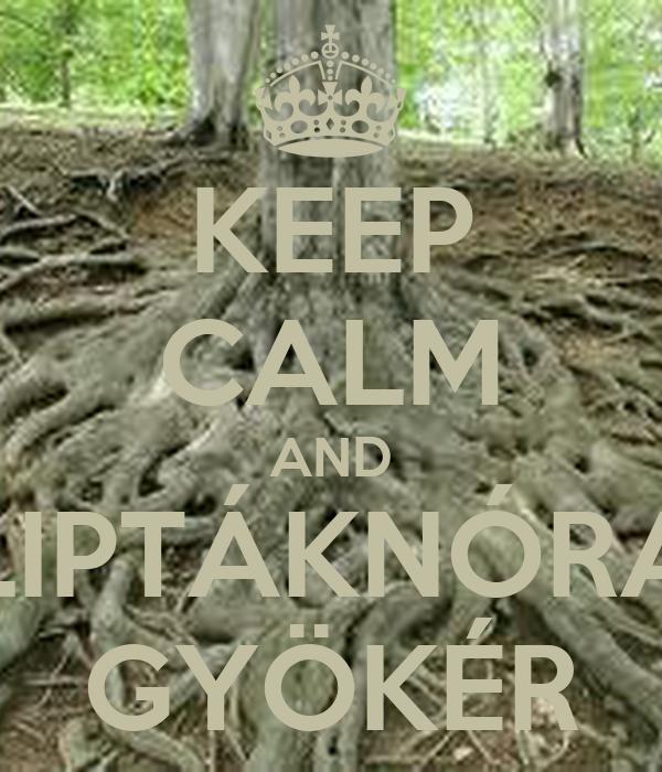 KEEP CALM AND LIPTÁKNÓRA GYÖKÉR