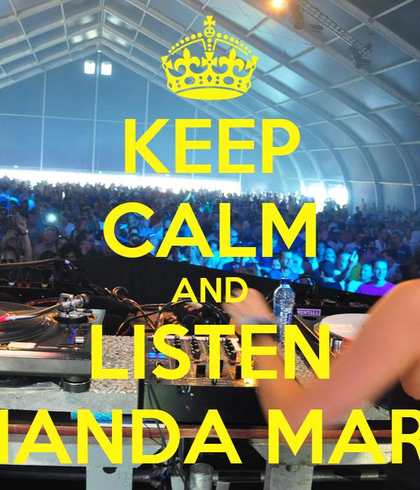 KEEP CALM AND LISTEN FERNANDA MARTINS