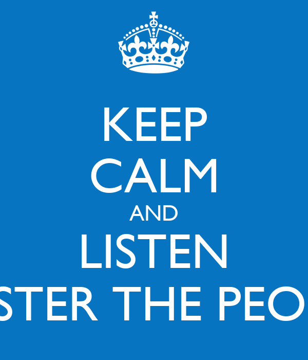 KEEP CALM AND LISTEN FOSTER THE PEOPLE