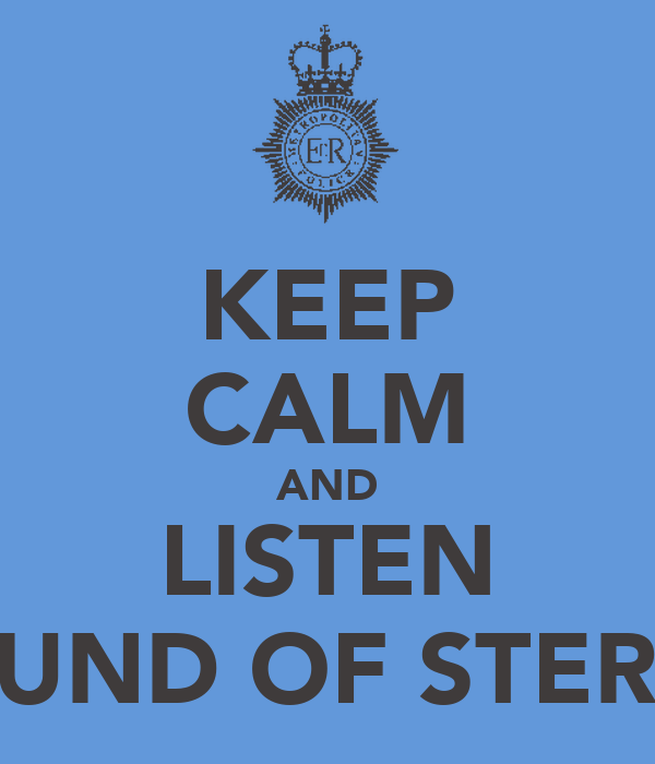 KEEP CALM AND LISTEN SOUND OF STEREO
