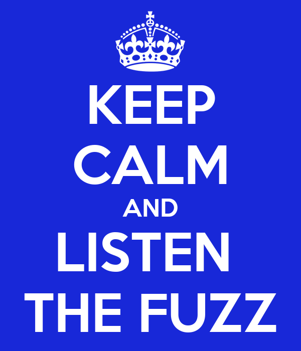 KEEP CALM AND LISTEN  THE FUZZ