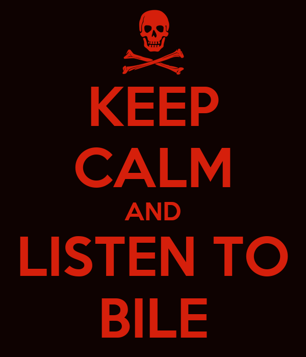 KEEP CALM AND LISTEN TO BILE