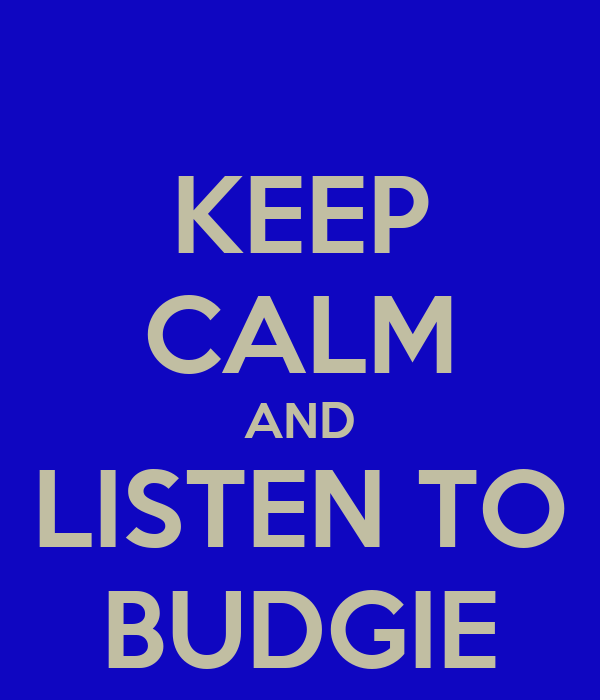 KEEP CALM AND LISTEN TO BUDGIE
