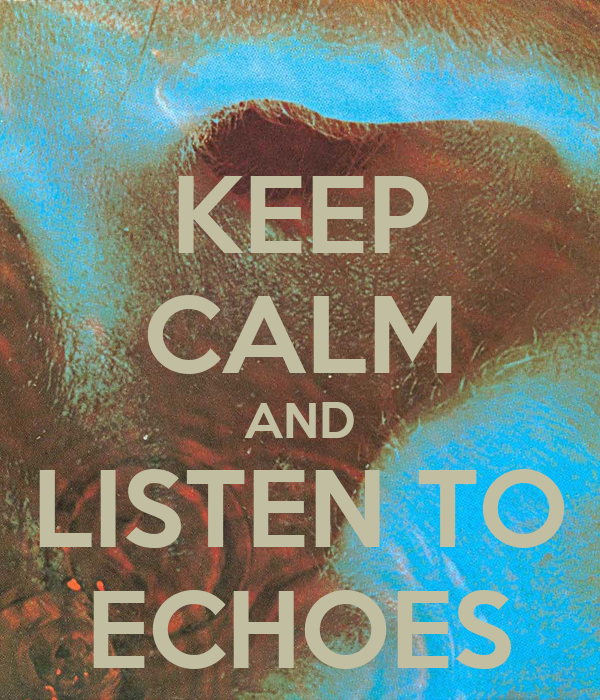 KEEP CALM AND LISTEN TO ECHOES