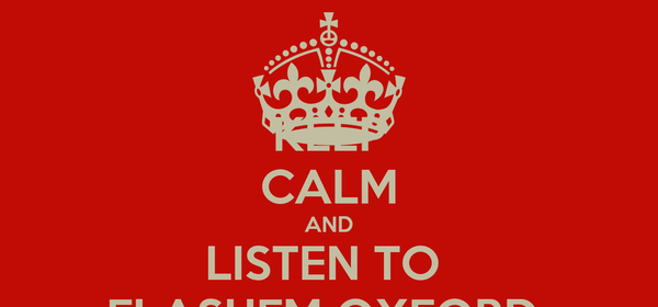 KEEP CALM AND LISTEN TO  FLASHFM OXFORD