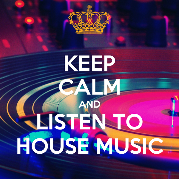 Keep calm and listen to house music poster nandor keep for Listen to house music