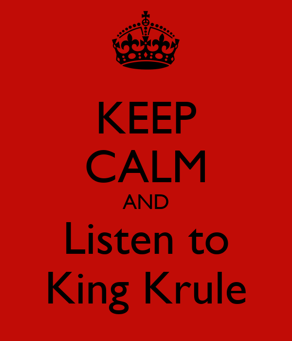 KEEP CALM AND Listen to King Krule