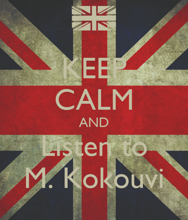KEEP CALM AND Listen to M. Kokouvi