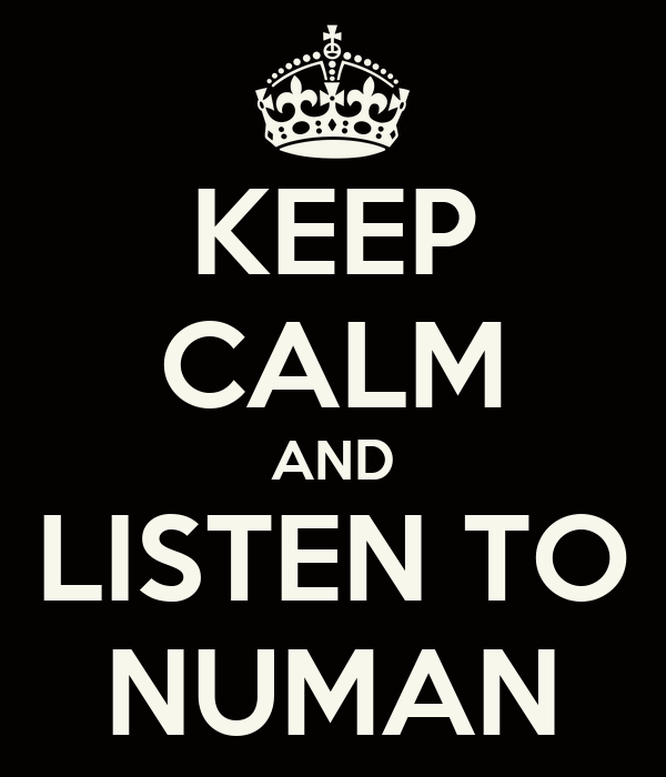 KEEP CALM AND LISTEN TO NUMAN