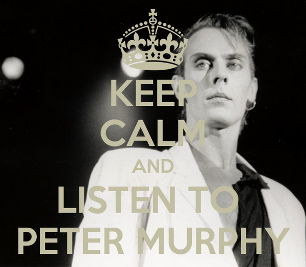 KEEP CALM AND LISTEN TO  PETER MURPHY