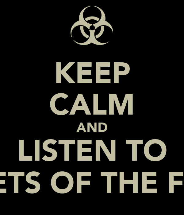 KEEP CALM AND LISTEN TO POETS OF THE FALL