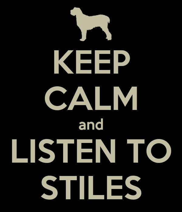 KEEP CALM and LISTEN TO STILES