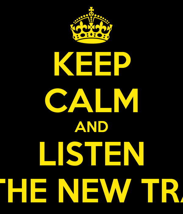 KEEP CALM AND LISTEN TO THE NEW TRACK
