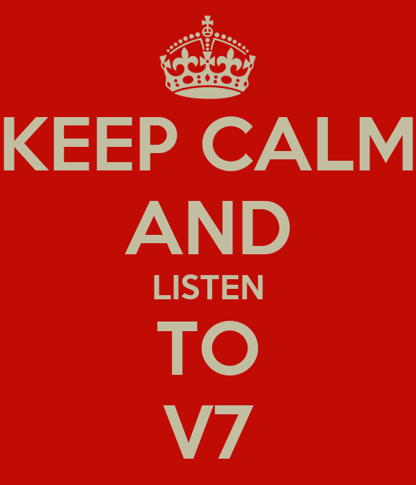 keep calm and listen to v7 poster grant keep calm o matic. Black Bedroom Furniture Sets. Home Design Ideas
