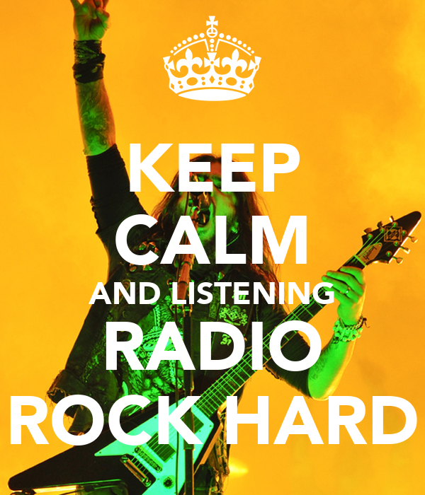 KEEP CALM AND LISTENING RADIO ROCK HARD