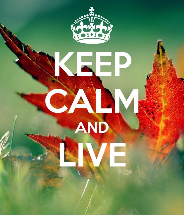 KEEP CALM AND LIVE