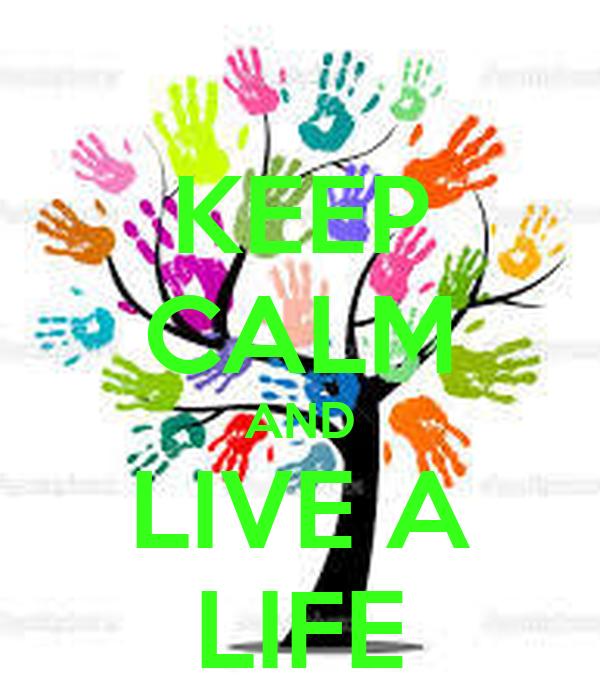 KEEP CALM AND LIVE A LIFE