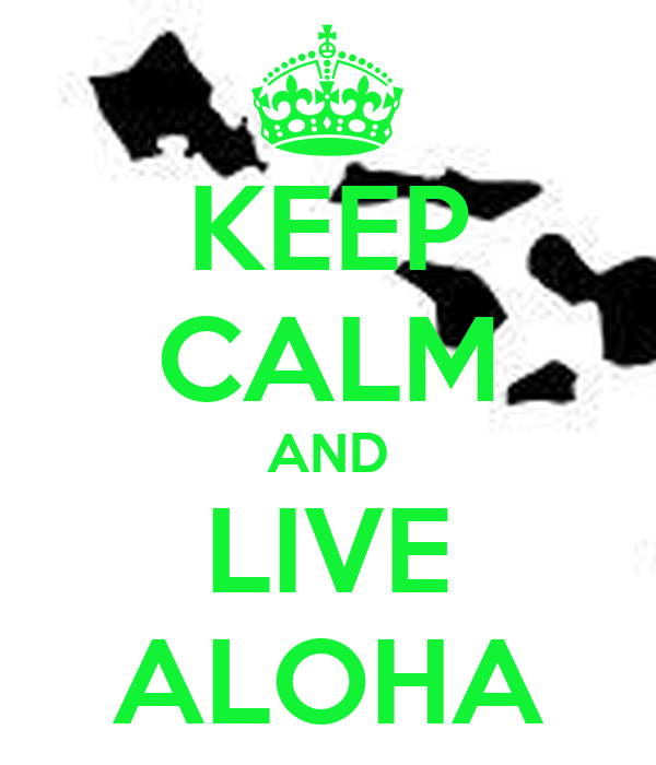 KEEP CALM AND LIVE ALOHA