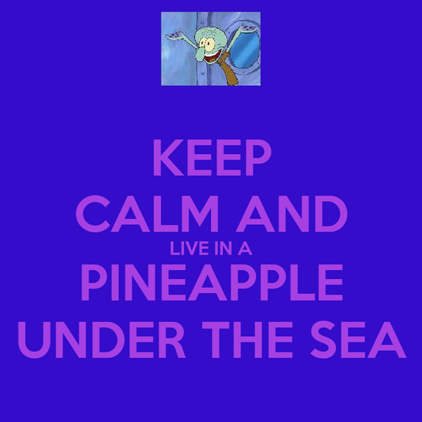 KEEP CALM AND LIVE IN A PINEAPPLE UNDER THE SEA
