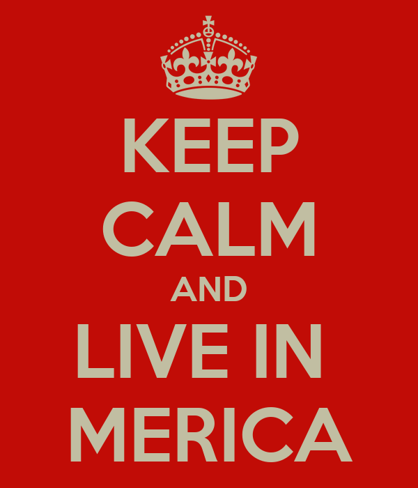 KEEP CALM AND LIVE IN  MERICA