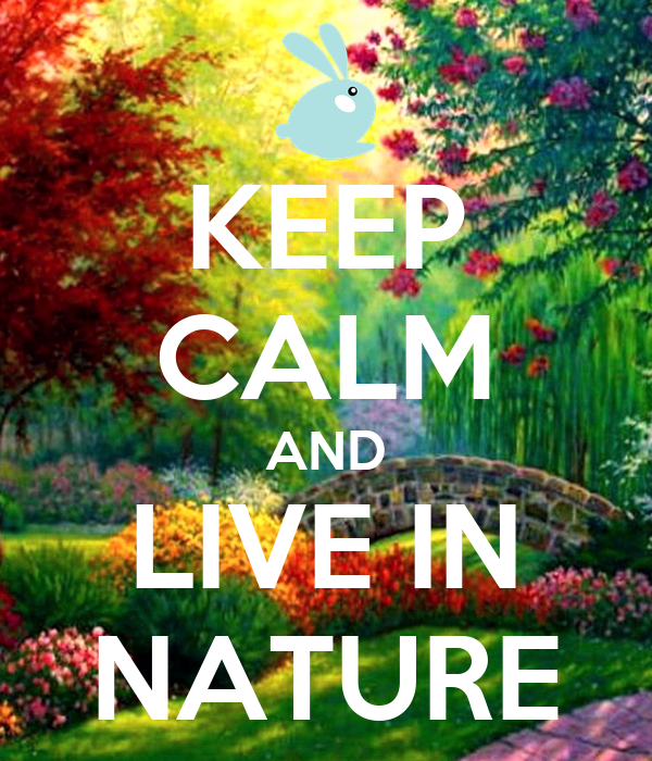 KEEP CALM AND LIVE IN NATURE