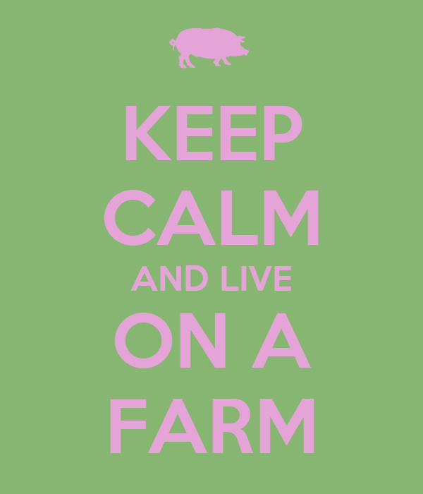 KEEP CALM AND LIVE ON A FARM