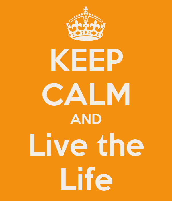 KEEP CALM AND Live the Life