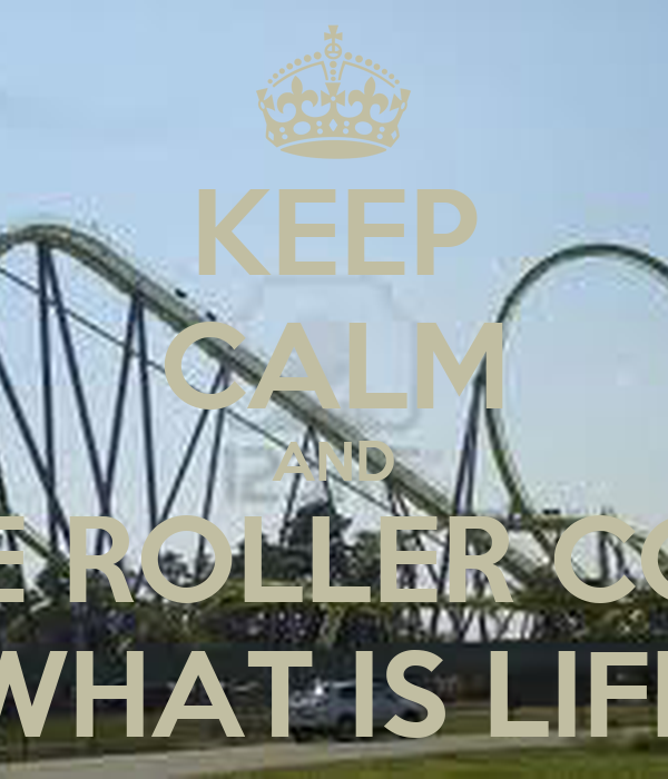 KEEP CALM AND LIVE THE ROLLER COASTER  WHAT IS LIFE