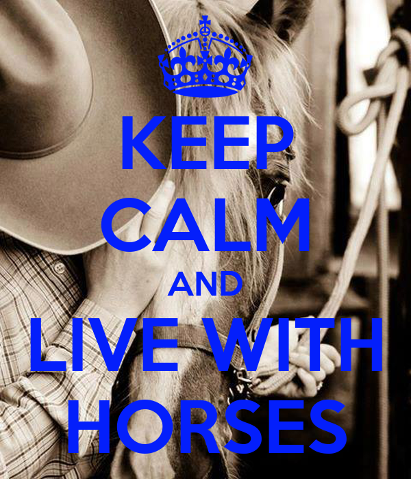 KEEP CALM AND LIVE WITH HORSES