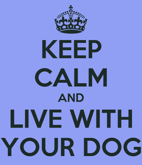 KEEP CALM AND LIVE WITH YOUR DOG