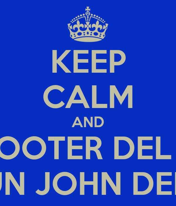 KEEP CALM AND LO SCOOTER DEL BODO E' UN JOHN DEERE