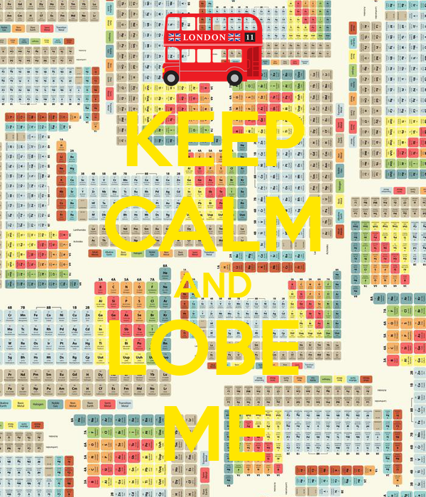 KEEP CALM AND LOBE  ME