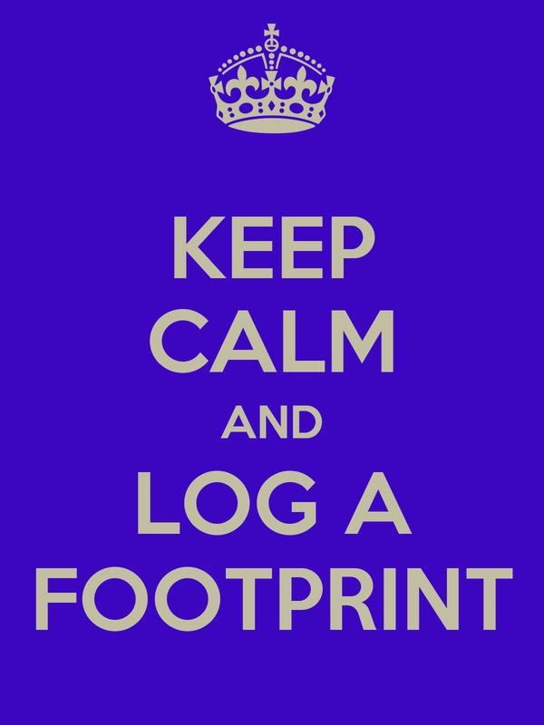 KEEP CALM AND LOG A FOOTPRINT