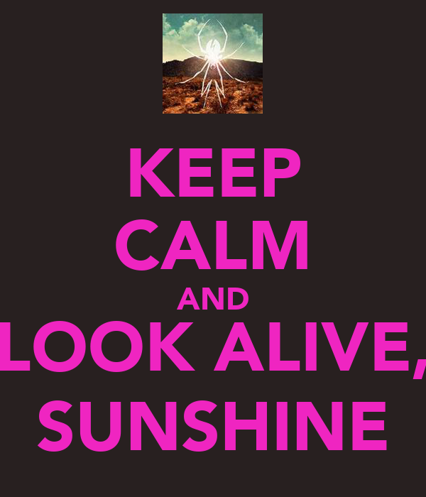 KEEP CALM AND LOOK ALIVE, SUNSHINE