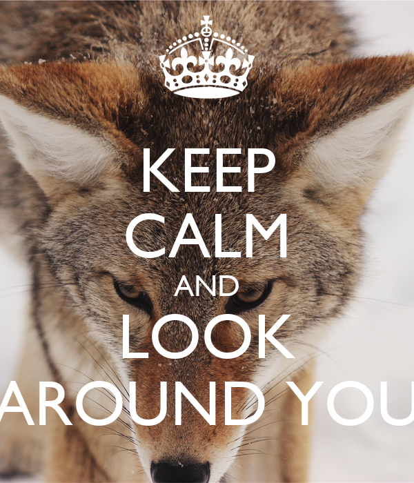 KEEP CALM AND LOOK AROUND YOU